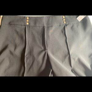A brand new black straight leg pant